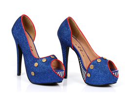 "Sexy 5"" High Heel Open Toe Platform Pump Sailor Girl Costume Shoes 519-H... - $915,91 MXN"