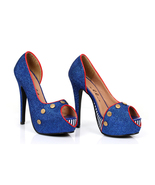 "Sexy 5"" High Heel Open Toe Platform Pump Sailor... - $47.99"