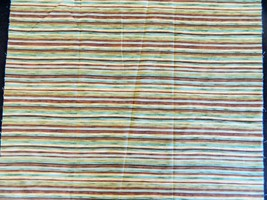 """Striped Iridescent Cotton Fabric Swatch Remnant Uncut 23"""" x 44"""" - $18.51"""