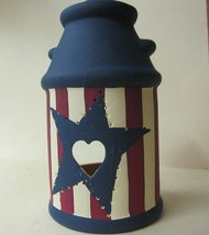 Candle Holder Votive Americana Milk Jug - $8.04