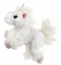 Lil Kinz Unicorn Webkinz HS069 White Iridescent Sparkly Feet Hooves & Horn - $2.76