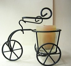 Candle Holder Wire Tricycle Votive  NEW - $8.04