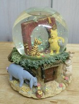 """Vintage Winnie the Pooh Snow Globe 5.5"""" Tall Photo Insert All Characters... - $44.54"""
