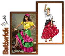 Butterick B4889 Calypso Gypsy Fortune Teller Costume Pattern L-XL - $12.99