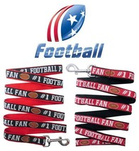 #1 Football Fan Dog Leash * 2 COLORS * Pet Puppy Nylon Sports League Tea... - €6,11 EUR