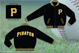 Pittsburgh Pirates Adults Wool Reversible Jacket  - $109.95