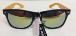 Black & Yellow Frame Mirrored Sunglasses UV400 Protection NWT - $8.99
