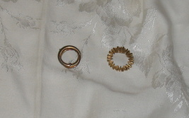 Two Vintage Gold toned Round Brooches - $8.00