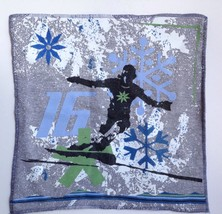 "Pottery Barn Teen Ski Snowboard Snow 18"" Pillow... - $27.76"