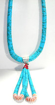 HUGE TURQUOISE CORAL NECKLACE WITH PENDANT ENHANCER - $350.00
