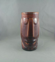 Vintage Tiki Mug - Moai Face by Libbey - Brown Glazed - $49.00