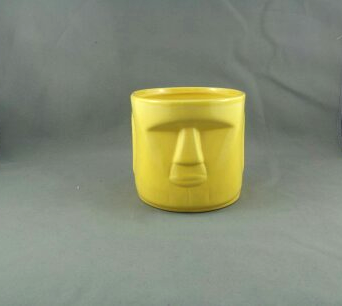 Primary image for Moai Head Tiki Tumbler or Mug - Vibrant Yellow - By Whaler's Rhum