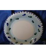 1 Royal Norfolk dinner plate dark blue green spots HELP - $11.87