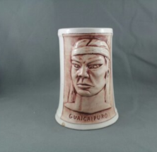 Vintage Christian Mission Bar Mug-Featuring Guaicaipuro (Venezuela)-Hand Painted - $69.00