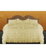 LinensnCurtains Waterfall Ruffle CREAM Bedspread Set 3pc - $169.00+