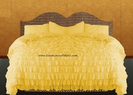 LinensnCurtains Waterfall Ruffle YELLOW Bedspread Set 3pc - $169.00+