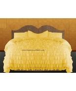 LinensnCurtains Waterfall Ruffle YELLOW Bedspread Set 3pc - $169.00+