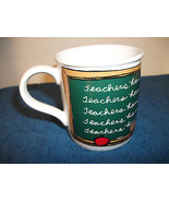 "TEACHER CERAMIC COFFEE MUG ""TEACHERS HAVE CLASS!"" - $4.99"