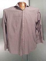 Sean John Striped Signature Button Long Sleeve Dress Shirt XL Size 17 - $21.55
