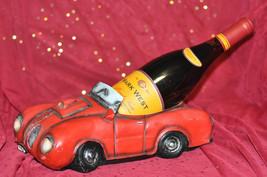 SCULPTURES Stock Car Wine Bottle Holder Red - $25.71