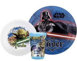 STAR WARS-5 pc. Plate, bowl & cup set. INCLUDES FLATWARE SET! - $17.95