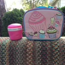 CUPCAKE LUNCHBOX BY INCLUDES A PINK FOOD JAR! - $14.95