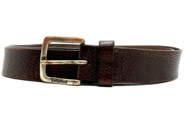 Timberland Men/'s Double-Stitch Leather Black Belt Style #A1BBG 001 All Sizes