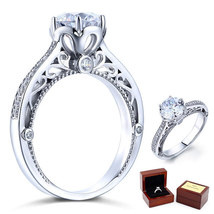 2 Ct Diamond Vintage Style Sterling 925 Silver Bridal Wedding Engagement Ring - $109.99