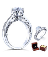 2 Ct Diamond Vintage Style Sterling 925 Silver Bridal Wedding Engagement... - $109.99