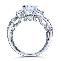 1.5 Ct Man Made Diamond Engagement Ring Vintage Sterling 925 Silver Wedding - $119.99