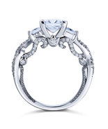 1.5 Ct Man Made Diamond Engagement Ring Vintage Sterling 925 Silver Wedding - $119.99