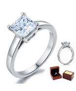 Sterling Silver Wedding Cathedral Promise / Engagement Ring 1.5 Ct Lab D... - $89.99
