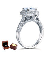 1.5 Ct Princsee Cut Diamond Sterling 925 Silver Bridal Wedding Engagemen... - $109.99