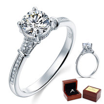 1 Ct Lab Created Diamond Affordable Cathedral Promise Ring 925 Sterling Silver - $99.99