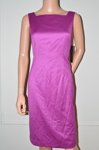 ANNE KLEIN Purple Day Evening Cocktail Party Dress w Jacket sz 4 Small S NEW - - $51.18