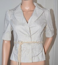 FOREVER 21 Ladies Summer Blazer Jacket Top with Belt 100% Cotton size Medium O - $23.17
