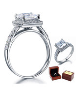 1.5 Ct Princess Cut Diamond Sterling 925 Silver Bridal Wedding Engagemen... - $99.99