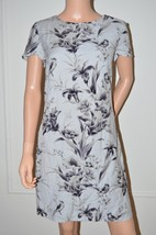 Ann Taylor LOFT $89 Grey Floral Summer Day Dres... - $27.84