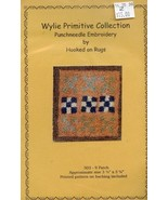 9 Patch Wylie Primitive Hooked on Rugs Punchneedle Pattern w/Fabric NEW - $7.17