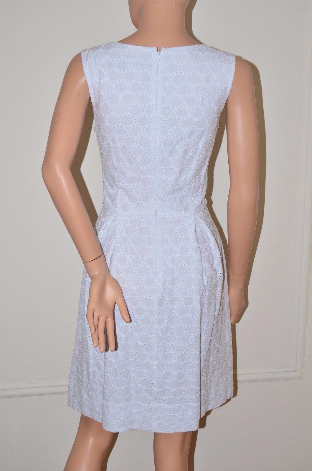 Miss Sixty M60 $128 Eyelet Embroidered Dress White size 6 Medium M NEW