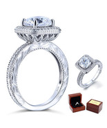 3 Ct Cushion Cut Lab Diamond Vintage Sterling 925 Silver Wedding Engagem... - $109.99
