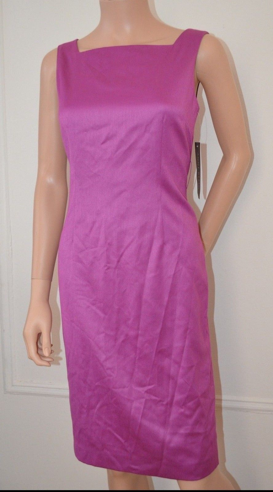 ANNE KLEIN Purple Day Evening Cocktail Party Dress w Jacket sz 4 Small S NEW -