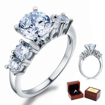 Five-Stone 2 Ct Round Diamond Sterling 925 Silver Bridal Wedding Engagement Ring - $99.99