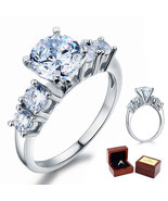 Five-Stone 2 Ct Round Diamond Sterling 925 Silver Bridal Wedding Engagem... - $99.99