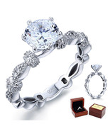 2 Ct Lab Diamond Vintage Sterling Affordable Engagement Ring Sterling Si... - $99.99