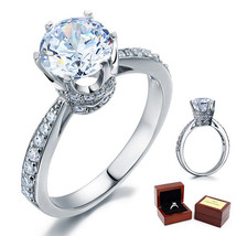 2 Carat Round Cut Diamond Sterling 925 Silver Bridal Wedding Engagement Ring - $99.99