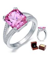 6 Carat Radiant Pink Lab Diamond 925 Sterling Silver Wedding Anniversary... - $105.99