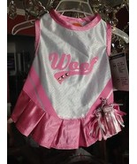 Puppy Dog Woof Cheerleader with Pom Poms Halloween Costume Brand New Wit... - $14.99