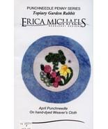 April Topiary Garden Rabbit Erica Michaels Punchneedle Pattern w/Fabric NEW - $8.97