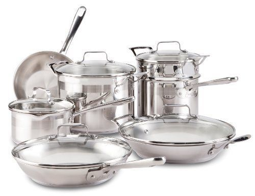 Silver Emeril All-Clad Chef`s Stainless Steel Cookware Set, 12-Piece